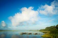 在码头上的云彩 库存图片
