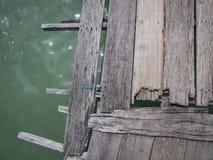 在码头或跳船的木板条在海 图库摄影