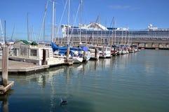 在码头39的小船 弗朗西斯科・圣 库存照片