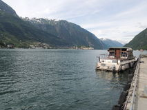 在码头的小船 图库摄影