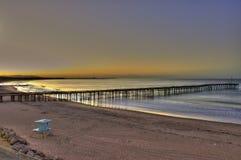 在码头的日出 图库摄影