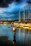 在码头的清早 免版税库存图片