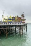 在码头的游艺集市,布赖顿 库存图片