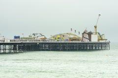 在码头的狂欢节,布赖顿 免版税库存图片