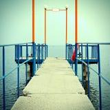 在码头的看法 免版税库存图片