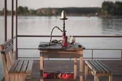 在码头的水烟筒 免版税图库摄影