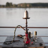 在码头的水烟筒 免版税库存图片