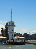 在码头39附近的灯塔 免版税图库摄影