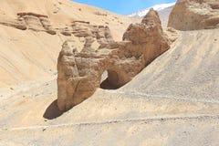 在砂岩的精美曲拱 免版税库存图片