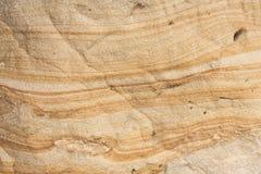 在砂岩的Liesegang圆环 库存照片