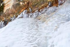 在砂岩2的冰 免版税库存图片
