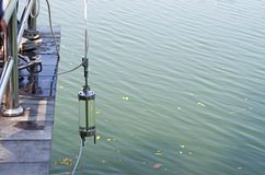 在研究的水取样器 免版税库存图片