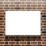 在砖墙的背景的白皮书 也corel凹道例证向量 向量例证
