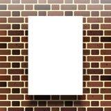 在砖墙的背景的白皮书 向量 皇族释放例证
