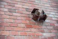 在砖墙的金属数字3A 免版税库存图片