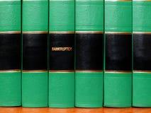 在破产的书 免版税库存图片