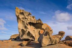 在碎片的卓越的岩石追逐国家公园,袋鼠Islan 免版税库存照片
