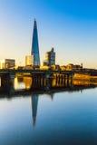 在碎片的日出,伦敦 免版税库存照片