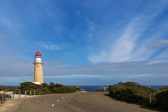 在碎片追逐全国Pa的Cape du Couedic Lighthouse驻地 库存图片
