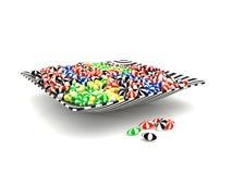 在碗的五颜六色的糖果 库存图片