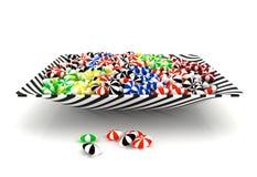 在碗的五颜六色的糖果 库存照片