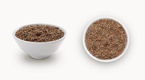 在碗的小茴香籽 免版税图库摄影