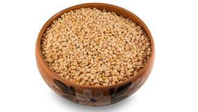 在碗的干黄豌豆 免版税库存照片