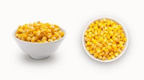 在碗的新鲜的玉米 图库摄影