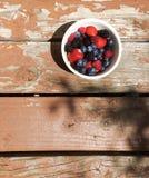 在碗的新鲜的莓果 免版税库存照片