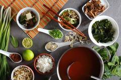 在碗的日本大酱汤 免版税图库摄影