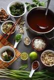 在碗的日本大酱汤 库存图片