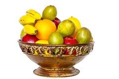 在碗的果子 免版税库存图片