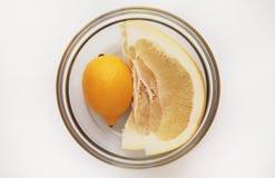 在碗的柑橘水果 免版税图库摄影