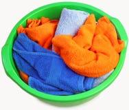 在碗的毛巾 库存图片