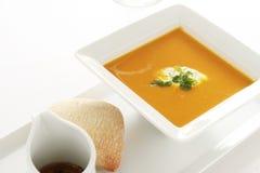 在碗的汤 库存图片