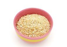 在碗的燕麦麸皮 库存图片