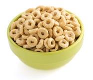 在碗的玉米片圆环 免版税库存照片