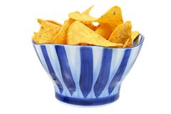 在碗的玉米片 免版税库存图片