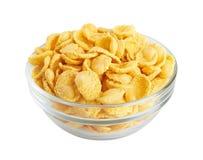 在碗的玉米片 免版税库存照片