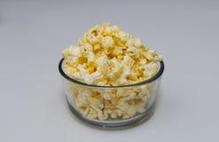 在碗的玉米花 免版税库存图片