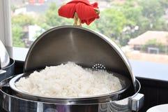 在碗的白米 免版税库存照片