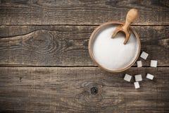 在碗的白糖 免版税库存照片