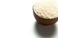 在碗的米 免版税库存图片