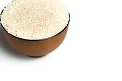 在碗的米 免版税库存照片