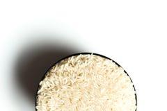 在碗的米 库存照片