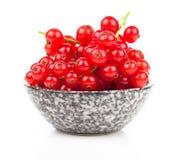 在碗的红浆果 库存照片