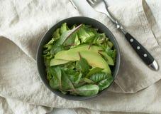 在碗的绿色素食主义者早餐膳食 干净吃,节食,素食主义者食物概念 库存图片
