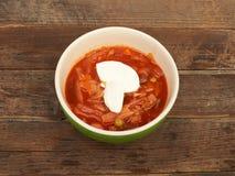 在碗的罗宋汤 免版税图库摄影