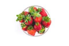 在碗的草莓 图库摄影