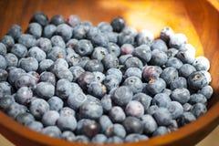 在碗的蓝莓 库存图片
